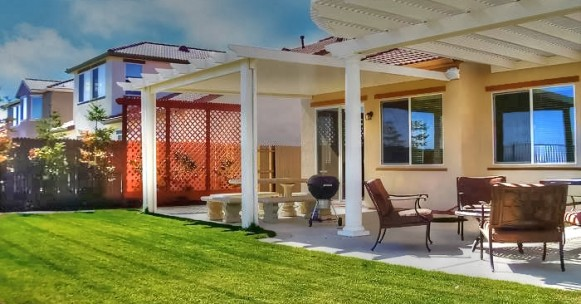 Double Lattice Patio Cover, California